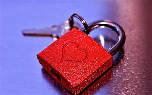 Wallpaper Love heart, Lock, Key, 4K, Love, #8972