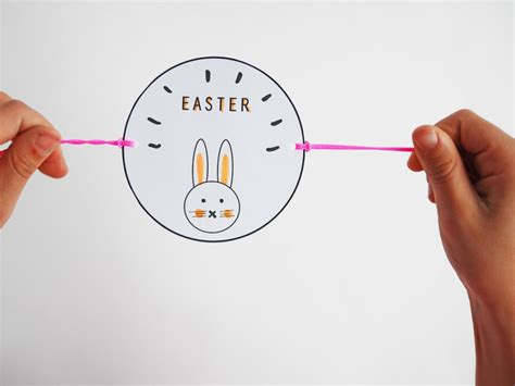 thaumatrope template bird cage diy happy easter thaumatrope free template