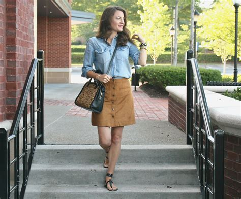 Brown Suede Skirt- Peaches In A Pod
