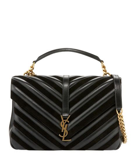 saint laurent monogram college large quilted top handle bag