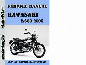 Kawasaki W650 2005 Service Repair Manual Pdf Download