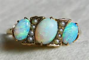 antique opal engagement rings opal ring 14k opal engagement ring 1800s gold antique semi black opal seed pearl ring