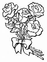 Coloring Flower Bouquet Pages Flowers Bright Choose Colors Favorite sketch template
