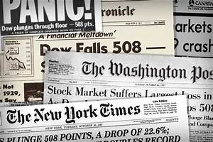 Top Headlines From Black Monday and the Stock Market Crash ...