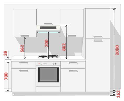hauteur meuble haut cuisine plan de travail installation climatisation gainable hauteur table de