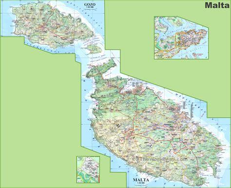 large detailed map  malta