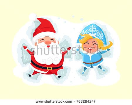 Santa Claus With Maiden In Bright Clothes Stock Active Winter Vacation Sports Sledding Stock