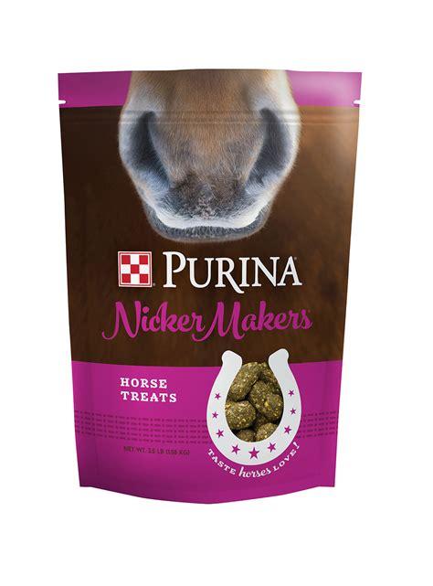 purina nicker makers horse treats  lb