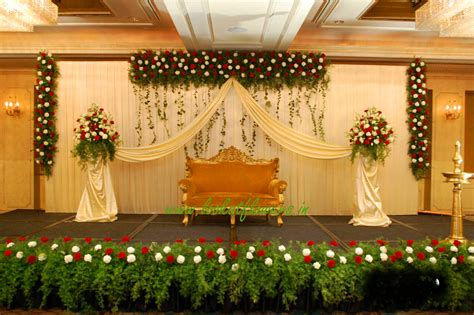 Hall Decoration for Wedding Reception Lookatflowers