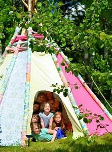 Tente Enfant Exterieur : comment fabriquer un tipi 60 id es pour une tente indienne sympa ~ Farleysfitness.com Idées de Décoration