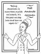 Gorman Amanda Coloring Printable Sheet Poet sketch template