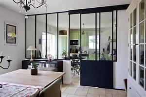 verriere interieure la nouvelle tendance deco travauxcom With cuisine avec verriere interieure