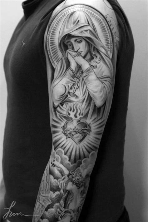 sleeve tattoos with saints - Google Search | Cars Bikes n' sh*t | Pinterest | Tattoo, Saints and