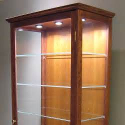 Pool Cue Cabinet by Hand Made Lighted Display Cabinet By Rosette Custom