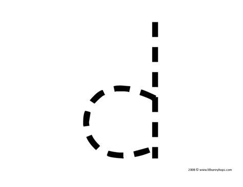 Trace Lowercase Letter D Worksheet For Pre-k