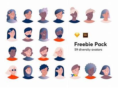 Avatars Diversity Avatar Inclusive Dribbble Freebie Pack