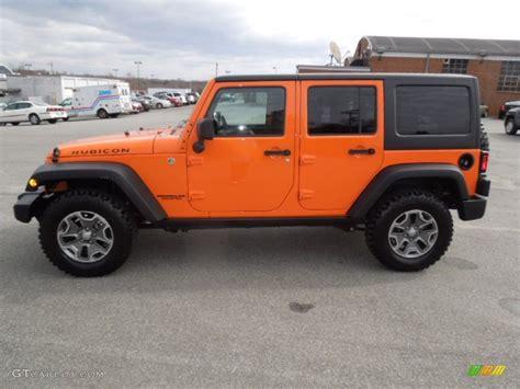 jeep rubicon orange 2013 crush orange jeep wrangler unlimited rubicon 4x4