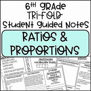 6th Grade Ratios And Proportions Tri
