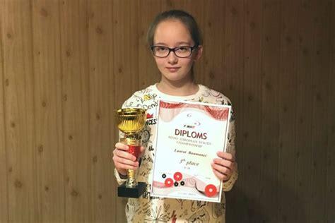 Divpadsmit gadus vecajai Laurai no Tukuma - 3. vieta Eiropas novusa čempionātā - NTZ