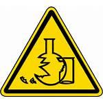 Hazard Symbol Glass Iso Label Glassware Warning