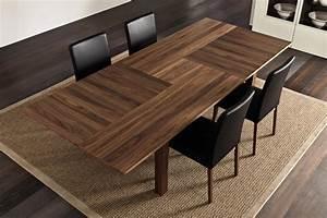 Hulsta la table de repas et 1700 en coeur de noyer en for Meuble salle À manger avec chaise salle a manger bois et cuir