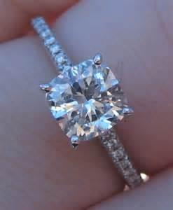 solitaire cushion cut engagement rings cushion cut solitaire engagement rings e4jewelry