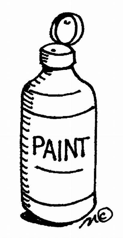 Paint Clip Clipart Bottle Supplies Painting Acrylic