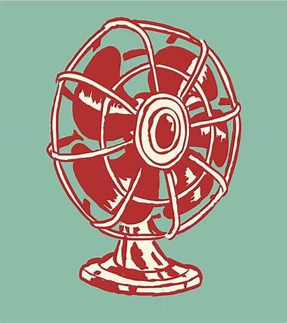Fan Electric Clip Vector Illustrations Graphics