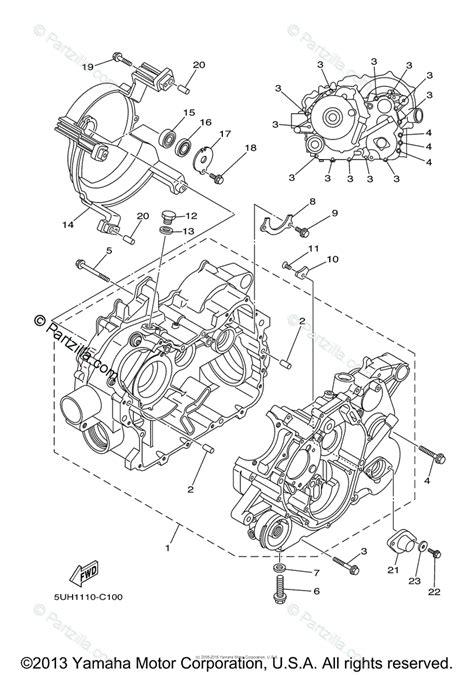 yamaha atv 2004 oem parts diagram for crankcase partzilla