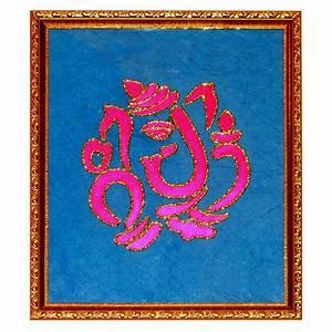 GaneshaDesign 1 Glass PaintingOnline Shopping
