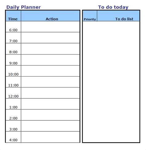 Daily Planner Template Word 2013 Daily Planner Archives Word Templates