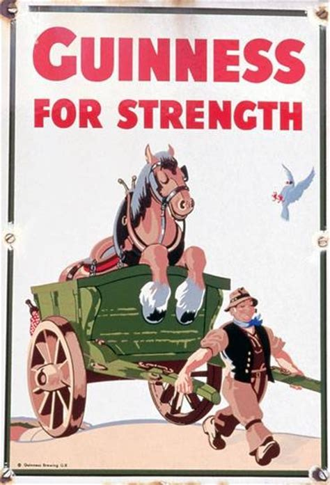 affiche vintage cuisine guinness for strength vintage food drink poster