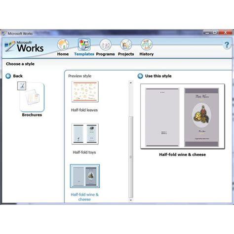 brochure templates  microsoft works