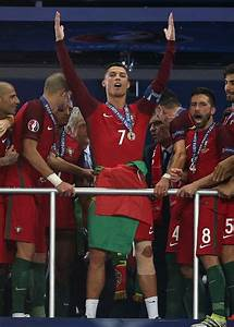 #EURO2016 Cristiano Ronaldo of Portugal celebrates before ...