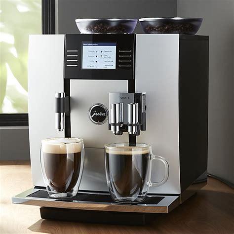 Jura Giga Espresso Machine jura 174 giga 5 espresso machine crate and barrel