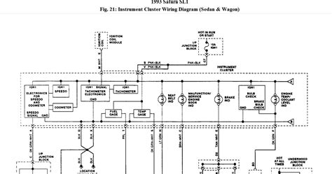1995 Gmc Instrument Cluster Wiring Diagram by Saturn Instrument Cluster Wiring Diagram Saturn Auto