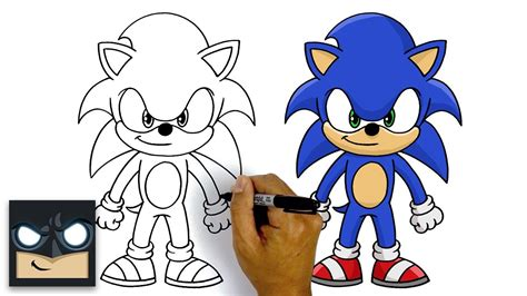 How To Draw Sonic The Hedgehog   Step By Step Tutorial ...
