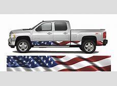 Truck Rocker PanelAmerican Flag Wrap Decal Cast Vinyl
