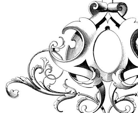 fabulous scrolls frame ornament