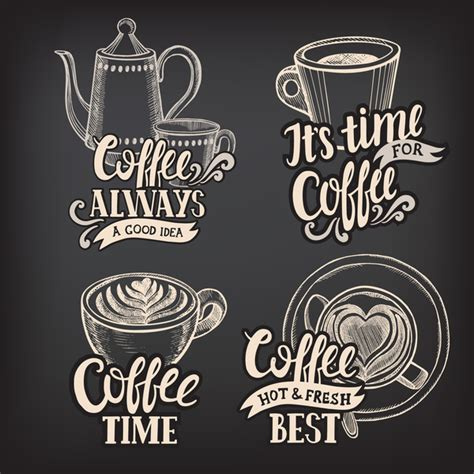 Choose from 440+ coffee logo graphic resources and download in the form of png, eps, ai or psd. Coffee logos design with chalkboard background vector 02 free download