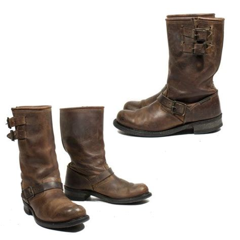brown leather harley boots vintage harley davidson motorcycle boots brown leather