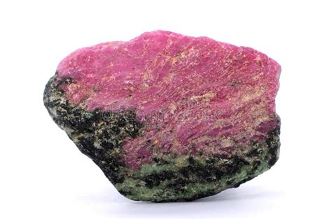 ruby zoisite stock of isolated