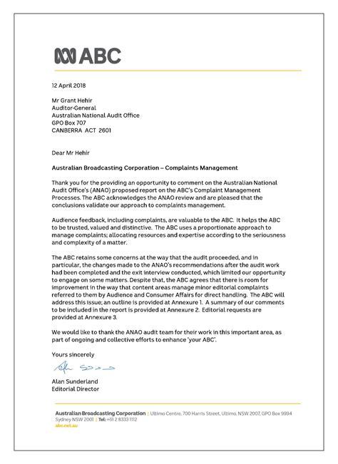 Australian Broadcasting Corporation—Complaints Management