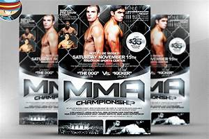 mma flyer template flyer templates on creative market With ufc poster template