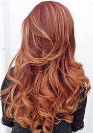 Copper Balayage Hair Color Burgundy