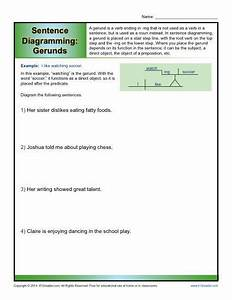 Sentence Diagramming  Gerunds Worksheets