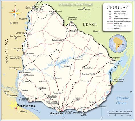 capital uruguay map