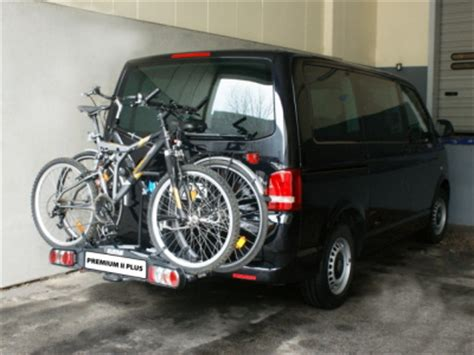 fahrradträger vw t5 fahrradtr 228 ger ahk 2 r 228 der abklappbar z b vw t4 t5 und alle