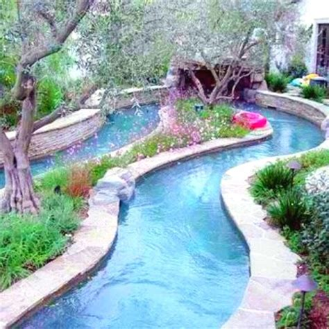 Backyard Pool With Lazy River by Best 25 Backyard Lazy River Ideas On Big
