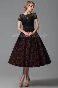 robe de mariã e dentelle vintage 2015 new vintage lace sleeves tea length cocktail dress dress edressit